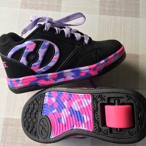 Heelys girls pink purple black